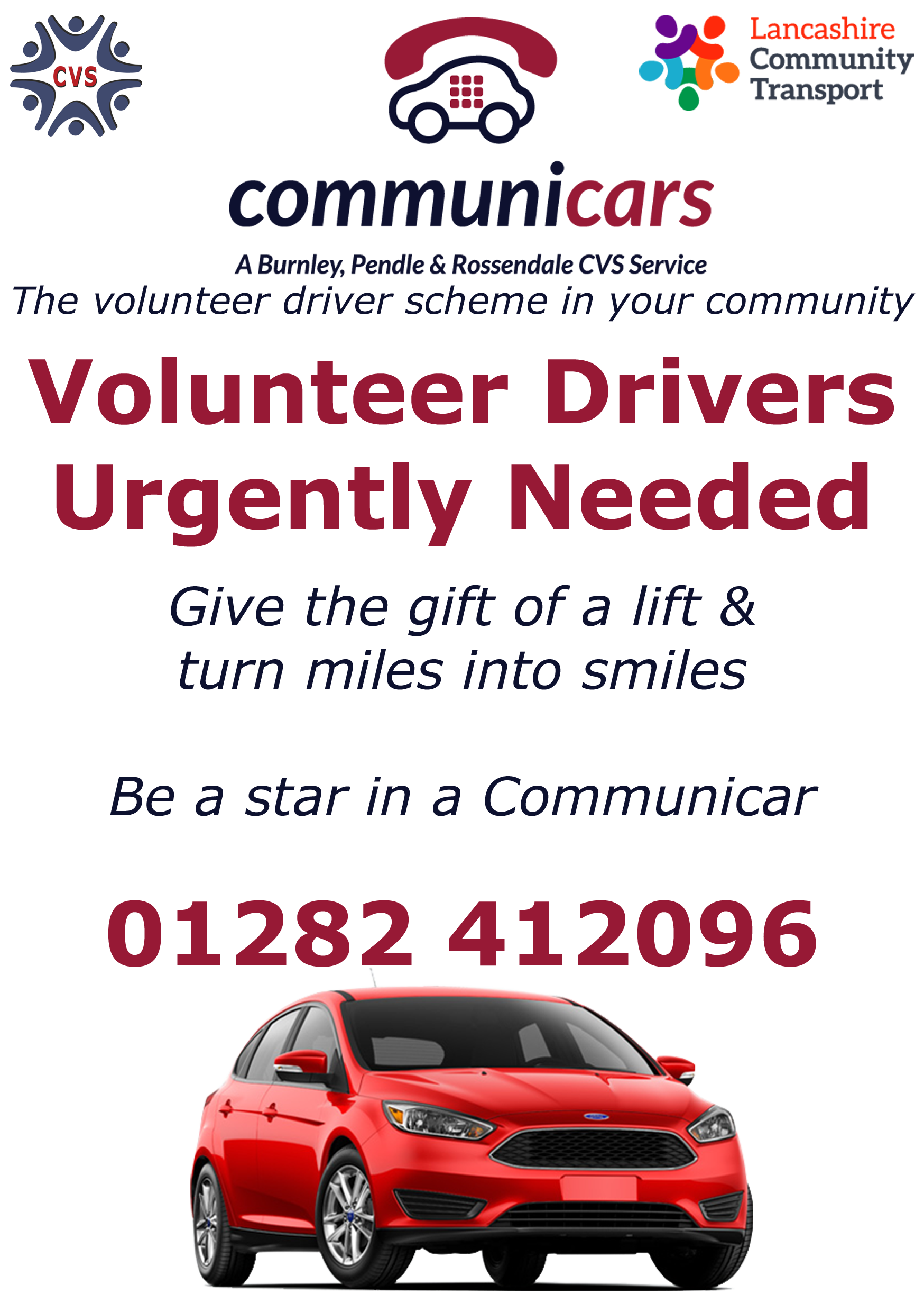 Communicars Volunteer Drivers Needed