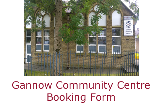 Gannow Community Centre Booking Form