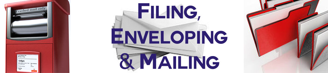 Filing, enveloping and franking mail services offered by BPRCVS