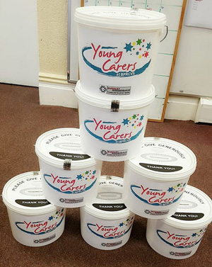 Young Carers Charity Buckets Fundraising